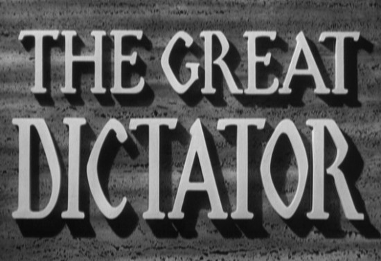 The Great Dictator title card
