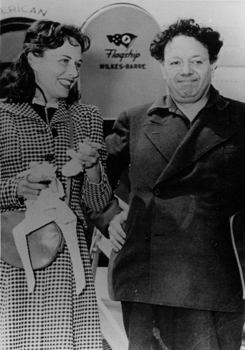 Paulette Goddard and Diego Rivera