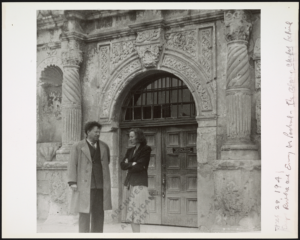 Rivera and Emmy Lou Packard at Alamo