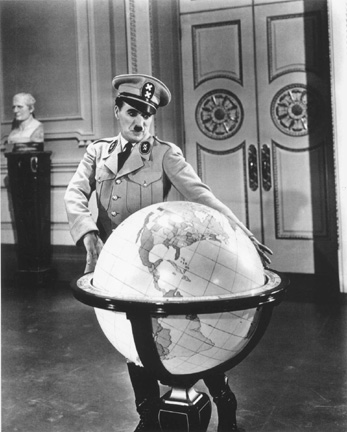 "Charlie Chaplin in ""The Great Dictator"", 1940"