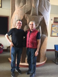 Dudley Carter's grandson Peter Vaughn with Will Maynez, 2018 (L to R)